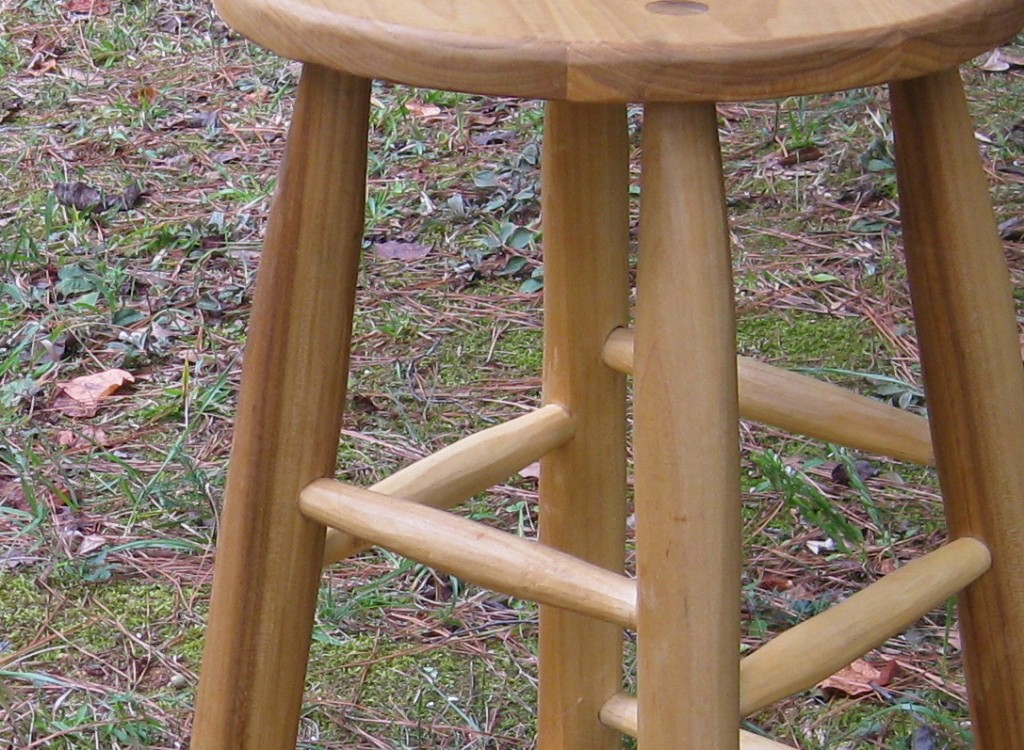 tall poplar stool, closeup