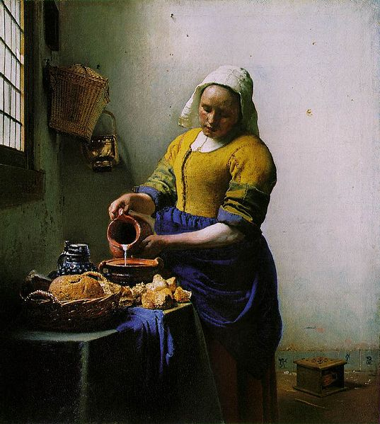 Vermeer: The Milkmaid, c. 1660