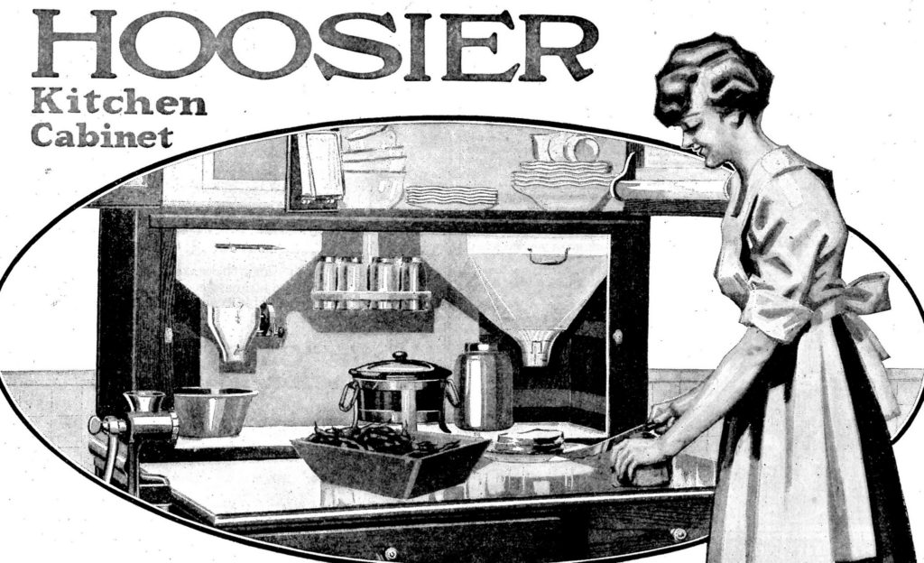 ad for Hoosier cabinet
