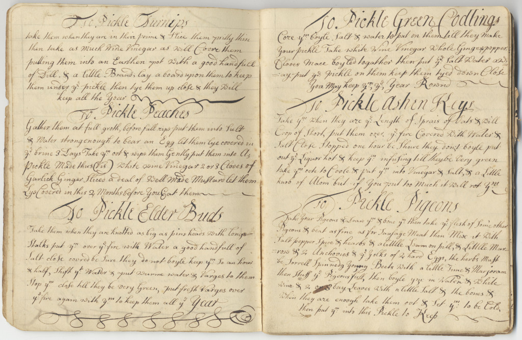 18th century manuscript cookbook