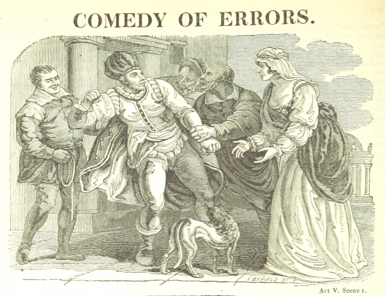 illustration from Shakespeare's Comedy of Errors