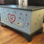 blanket chest, side view