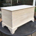 blanket chest, unpainted