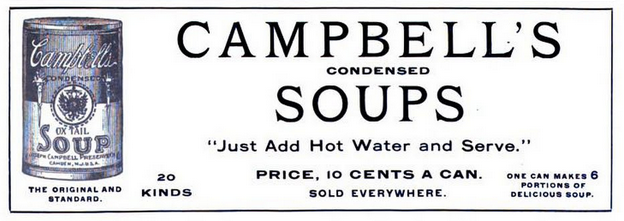 ad for Campbell's Condensed Soup, 1901